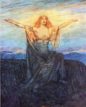 Arthur Rackham Illustration from The Ring