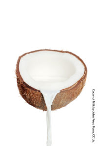 Pouring Coconut Milk