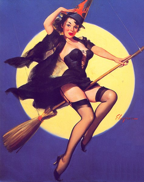 Gil Elvgren Witch